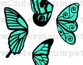 Butterfly Wings Stencil Set