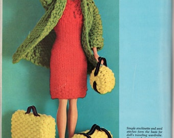 Barbie Doll Travel Outfit - Knitting Pattern - LOW PRICE
