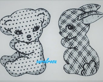 Pattern to sew - Cloth Bunny and Teddy Bear  - Instant download