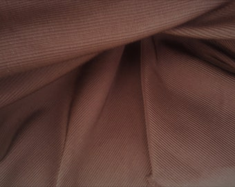FAILLE Dark CHOCOLATE BROWN Ribbed Upholstery Fabric,25-57-07-0510