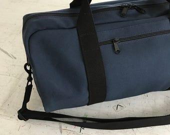 Duffle Bag, Canvas Duffle Bag, Cross-Body Duffle Bag, Vegan Duffel Bag, Weekend Duffle Bag, Carry-on Duffle Bag, Gym Bag, Navy Blue Duffle,