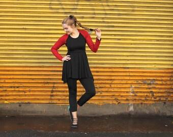 Red Shrug| Red Bolero Shrug| Yoga Clothes| Workout Clothes|Dancers Shrug| Ballet Shrug| Womens Yoga Gift|