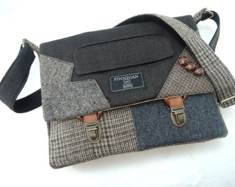 Women's iPad bag Messenger Bag mens iPad Messsenger bag iPad Sleeve iPad Case Womens messenger Bag Eco Friendly Recycled Suit Coat