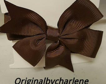 Boutique Chocolate Brown Hairbow