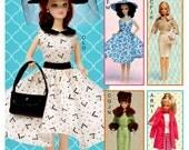 11 1/2 inch Fashion Doll Clothes Pattern, Retro Fashion Doll Clothes Pattern, McCall's Sewing Pattern 7550