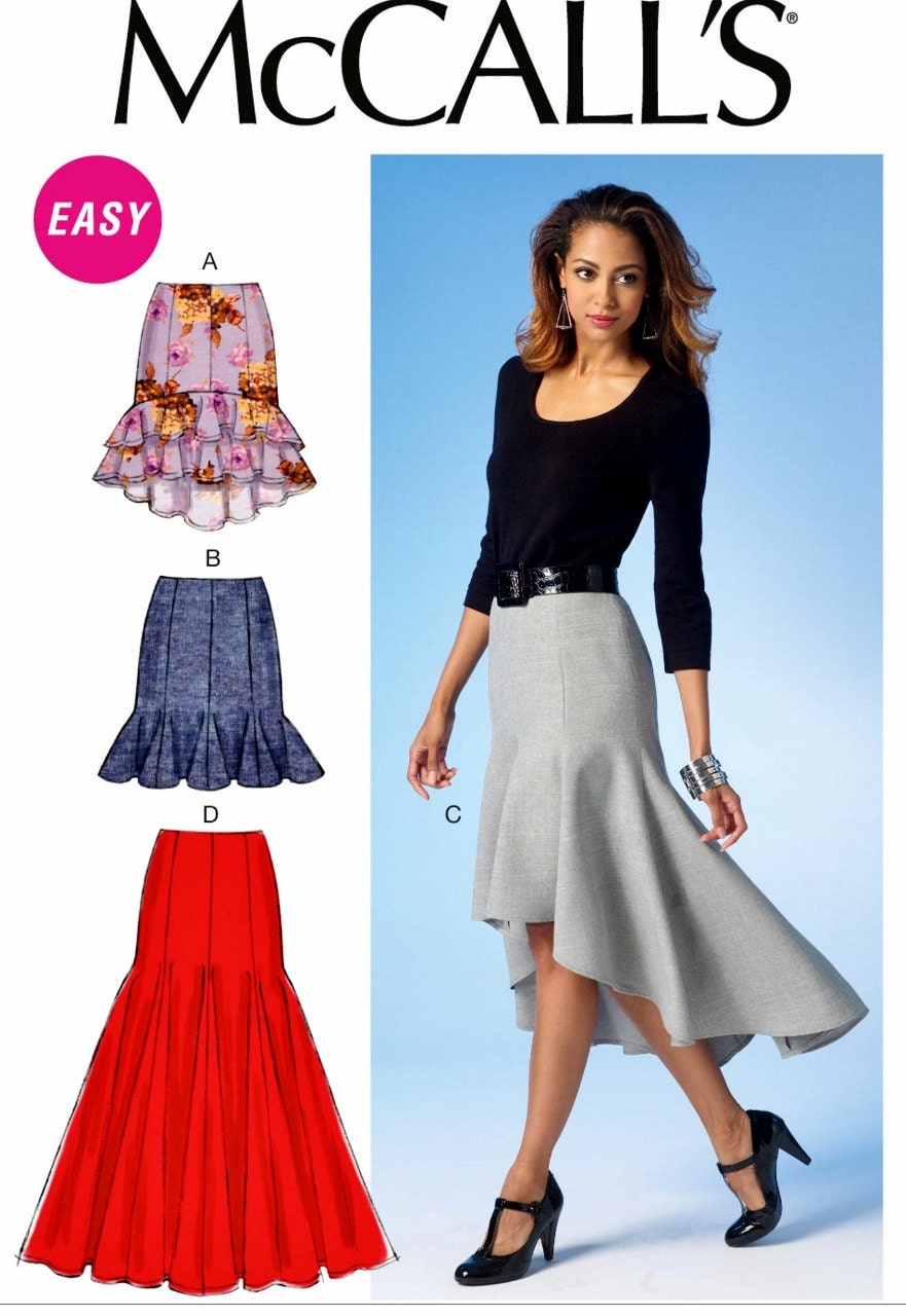 High Low Skirt Pattern High Low Ruffle Skirt Pattern Flounce