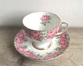 Rose Of Sharon Royal Standard Fine Bone Chine Tea Cup And  Saucer England Shabby Cottage Chic AS IS