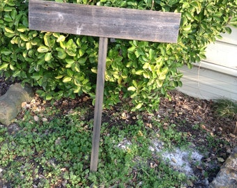 Blank DIY Rustic Reclaimed Fence Wood Wedding Sign on Stake Western Bridal Ready to Ship