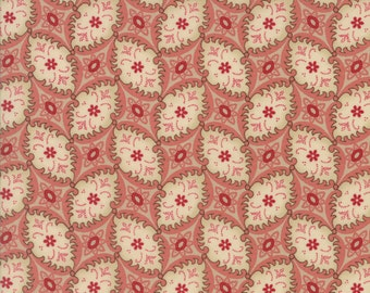 MADAME ROUGE Moda fabric 1/2 yd French General cotton shabby quilting sewing Kaari Meng reproduction turkey red half yard 13776-18