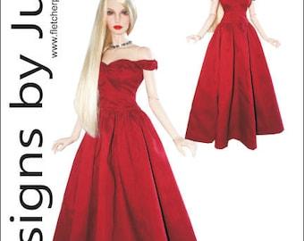 True Splendor Gown Pattern for 1/3 Iplehouse EID BJD Dolls