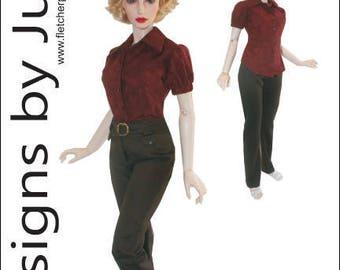 PDF Summer Top & Pants Clothing Pattern for 1/3 Iplehouse EID BJD Dolls