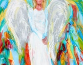Reserved for Cathy Custom oil painting angel portrait by Karen Tarlton - final payment