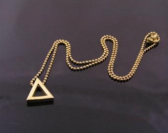 Triangle Necklace, Geometric Necklace, Geometric Jewelry, Minimalistic Jewelry, Minimalist Jewelry, Minimalist Necklace, Choker Gold