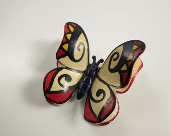 West Germany MOD MAD Modernist Butterfly Brooch