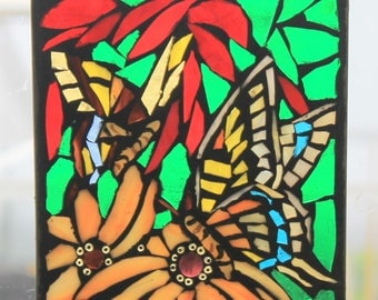 Mosaic Butterfly   Stained Glass SunCatcher or wall Decoration (Reserved)