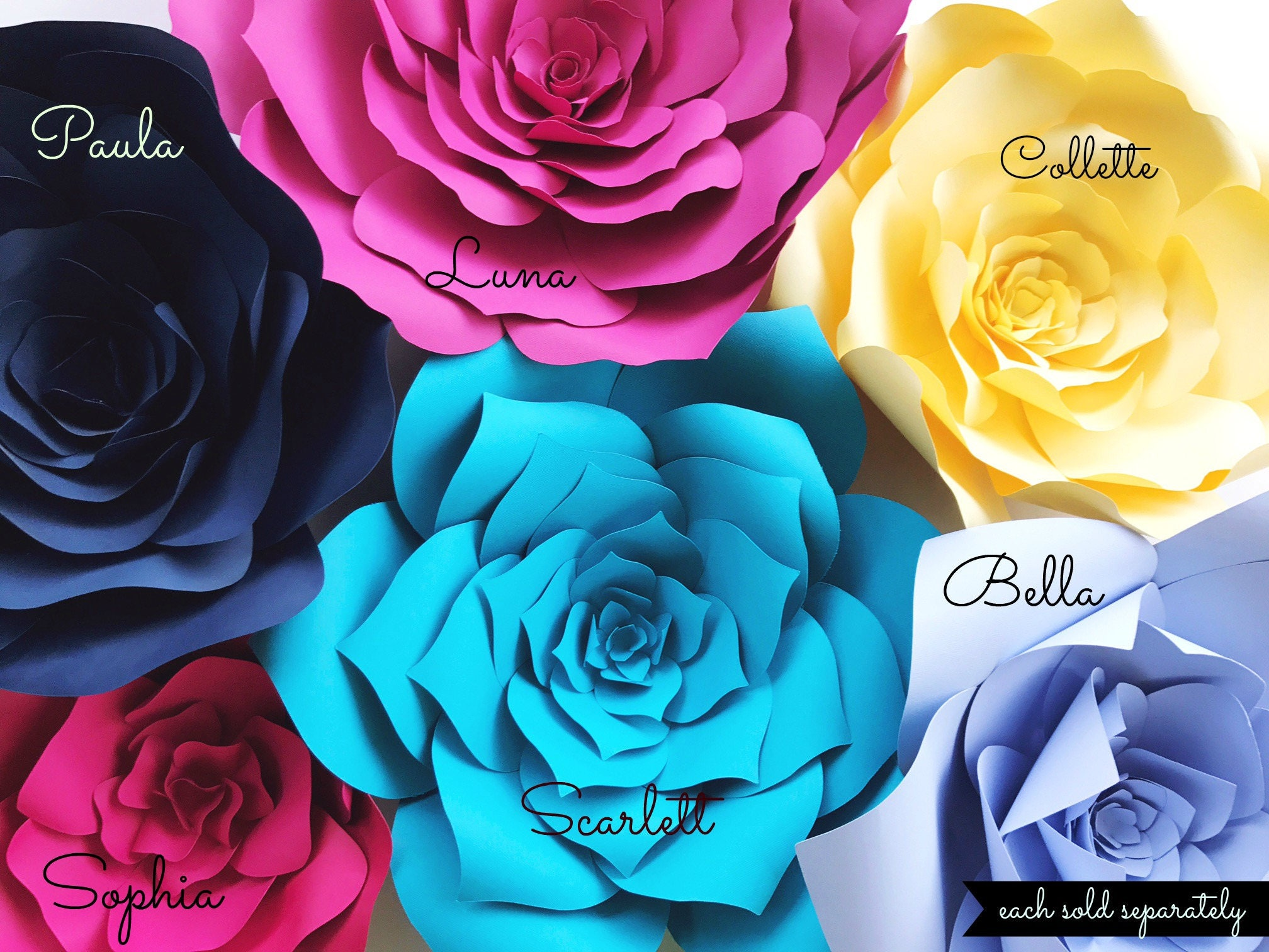 paper flower wall decor paper flower templates with diy video