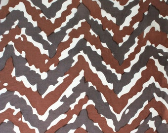 Mid century sulk scarf by Michael Murray. Chevron scarf, animal print scarf, camouflage scarf, brown, gray, white scarf, geometric scarf