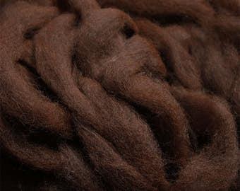 Alpaca Roving - Dark Brown - 1 Lb.