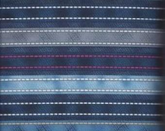DIAMONDS and DENIM ~ Stripe ~ 100% Cotton Print ~ 1/2 Yard ~ Pattern 24406 Me O My ~ Out of Print Fabric