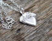 Sterling Silver Blossom Heart Necklace