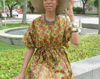 African Ankara Caftan Dress