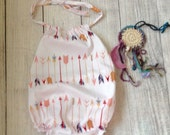 Baby clothes, baby girl clothes, baby romper, baby girl romper, arrow romper