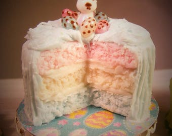 12th Scale Doll house Easter Spring Bunnie Cake