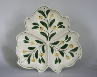 vintage hand painted serving dish