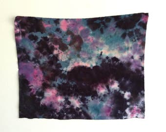 Black, Blue and Pink Hand Dyed Textile