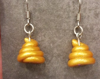Kin no Unko Earrings - Golden Poo Lucky Charm
