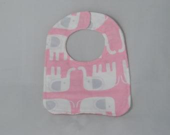 Baby Doll Bib Pink Elephants