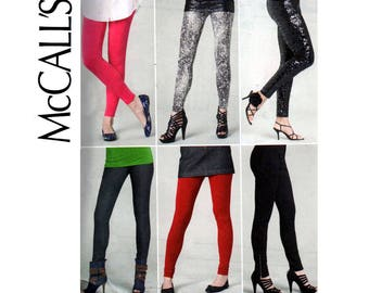 McCall's 6173 EASY Stretch Pants & Tights Leggings Sewing Pattern Size 4 - 14 UNCUT Factory Folds
