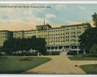 French Lick Springs Hotel Indiana 1910s postcard