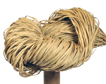 Natural Paper Raffia - Paper Ribbon: 260 yards (240m) - Fiber Arts, Knit, DIY, Gift Wrapping, Weave, etc. - Handwash
