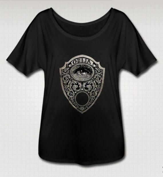 Ouija Planchette Flowy Tee Shirt