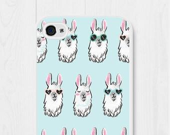 Llama Gifts iPhone 6 Case Llama Phone Case iPhone 7 Case Llama iPhone 4 Case iPhone SE Case Llama iPhone 5 Case Samsung Galaxy S6 Case Blue