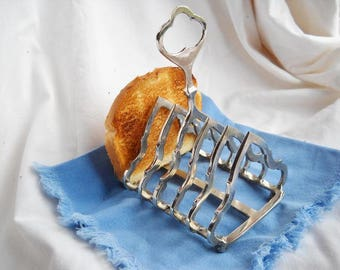 Antique Victorian silver plated toast rack