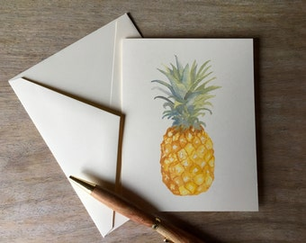 Pineapple  Note Card - Note cards set - Watercolor Pineapple notecards