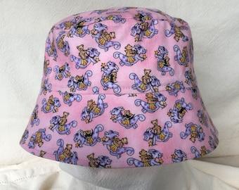 Dragon Hat, Teddy Bear Hat, Pink Hat, Sun Hat with Chin Strap, Bright Sun Hat, Sun Hat, Toddler Bucket Hat, Infant SunHat, Child Sun Hat