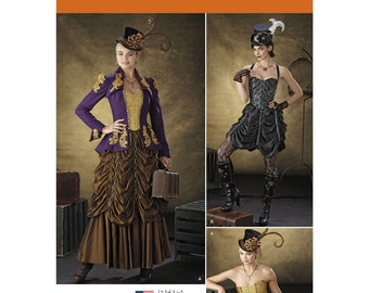 Pick Your Size - Simplicity Costume Pattern 1248 by THERESA LAQUEY - Misses' Steampunk Costumes - Jacket, Bustiers and Skirts