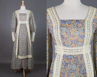 vintage 1960s Gunne Sax maxi dress