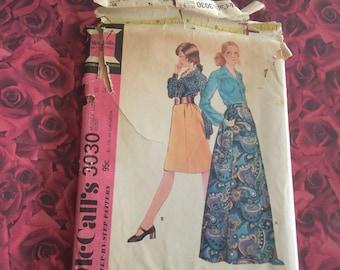 70's Vintage Mccalls Sewing Pattern