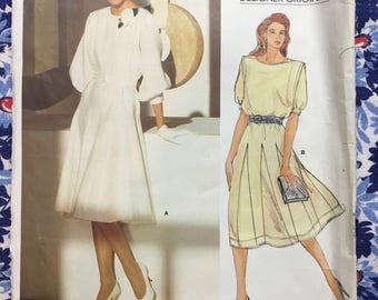 Vogue 1359 UNCUT Mid 1980s Designer Original by Jean Muir Size 10 dress