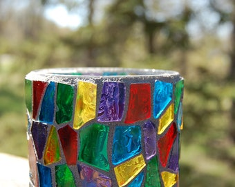 Votive Candle Stained Glass Holder