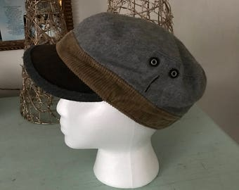 Vintage Grace Hats Newsboy Cap Messenger Hat Black Olive Gray Wool Blend Classic Warm Winter Fashion Cotton Lined Gifts Under 30 Fall Autumn