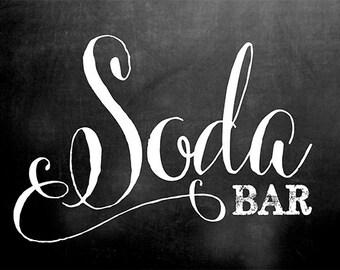 Soda Bar Chalkboard Sign