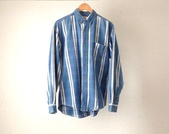 vintage STRIPED oxford normcore oversize GRUNGE men's shirt