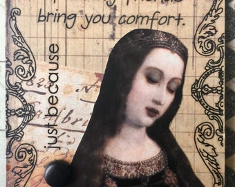 Just Because A Conceptual AcEo  Mixed Media Victorian Cards  ACEO Alteredhead On Etsy Artwork ATC Original Handmade Design On Etsy Artwork