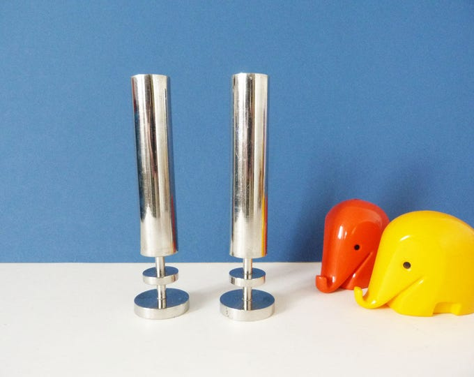 1970's  Burco Vases stainless steel