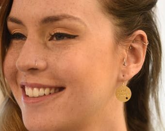 Dreams come true earrings, fashion, classic jewelry, Hebrew earrings